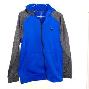 Adidas men's L blue grey hoodie jacket like new!